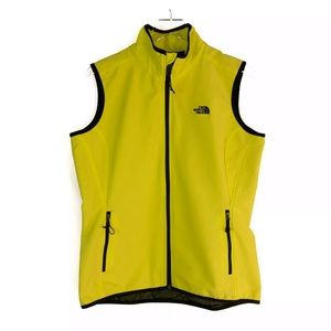 The North Face Bright Yellow Softshell Vest XL
